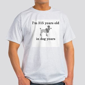 45 birthday dog years poodle T-Shirt
